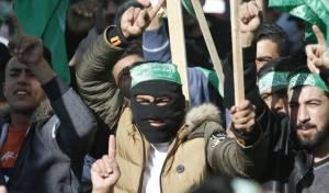 מפגן חמאס בעזה - חמאס מעריך: 95 אחוז למלחמה עם ישראל