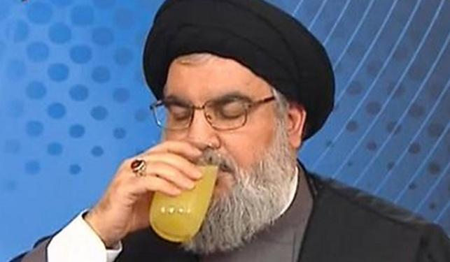 נסראללה והמשקה הצהוב, בנאום הקודם