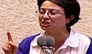 """מהומה: זועבי האשימה את חיילי צה""""ל ברצח"""