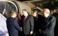 """השר כץ קיבל את נשיא צרפת בנתב""""ג. צפו"""