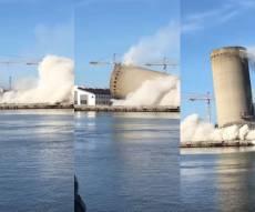 """הפיצוץ השתבש והמגדל קרס על מתנ""""ס • צפו"""