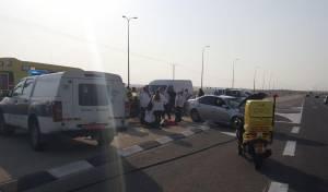 התאונה בכביש 25 - הקטל בדרכים: אשה וילד נהרגו בתאונה