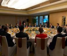 נתניהו בפגישה - נתניהו נועד עם מנהלי חברות ענק בסין. צפו