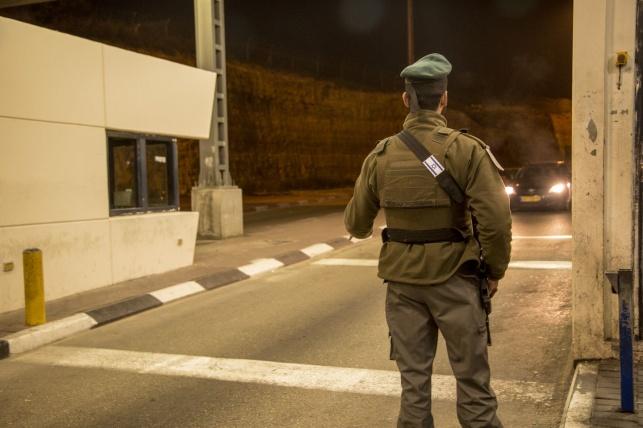 מעבר וולג'ה: הרכב נעצר במחסום והתגלה כגנוב