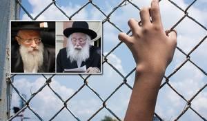הדיינים הרב סילמן והרב שטרן - הדיינים בדקו את התלונות על חוטפי ילדים