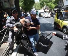 הפגנה אלימה בי-ם - בעקבות מעצר הבנות