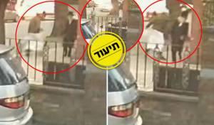 אחת התקיפות שתועדה במצלמות האבטחה