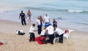 פעולות ההחייאה בחוף - אישה כבת 60 טבעה למוות בחוף בבת ים