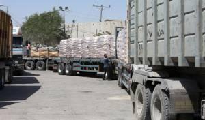 משאיות בכניסה לרצועת עזה