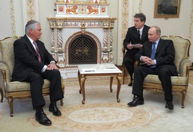 טירלסון עם נשיא רוסיה