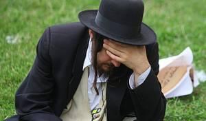 חסיד ברסלב באומן (צילום: מאיר אלפסי)