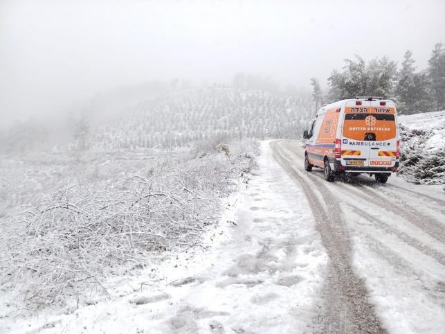 איחוד הצלה סיים את ההיערכות לקראת שלג