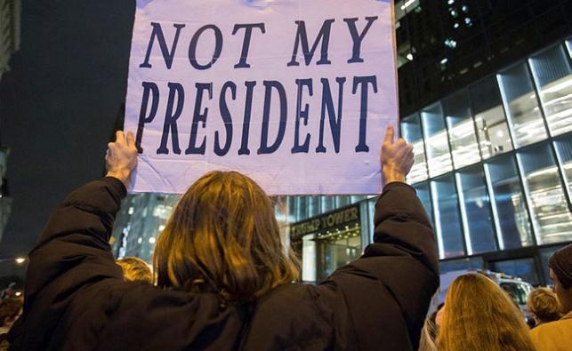 הפגנה נגד טראמפ. ארכיון
