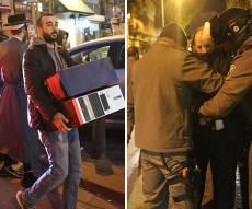 המעצרים והחרמת המחשבים - המשטרה: המעצרים בגין תקיפות ואיומים של בעלי עסקים