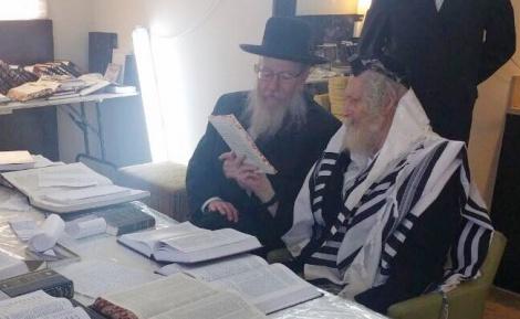ליצמן עם הרב ברלנד - תיעוד: ליצמן ופרוש בביקור אצל הרב ברלנד