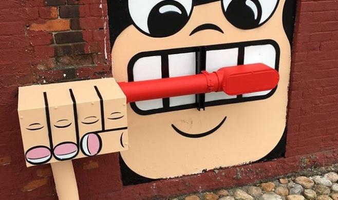 גלריה: הצייר שגורם לתושבי ניו יורק לחייך