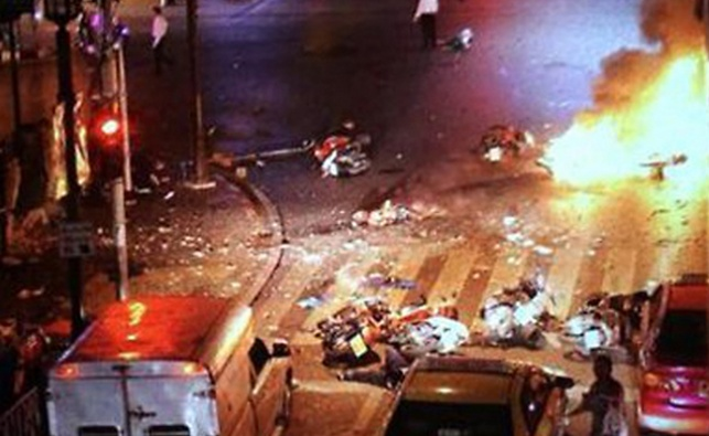 אחת התמונות מהזירה שעלו לרשת מיד לאחר הפיגוע
