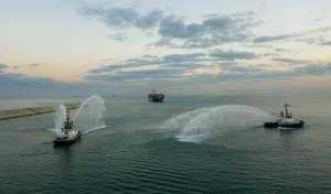 אוניה ראשונה עם מטען מהאמירויות • צפו