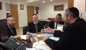 """הרבנים בפגישה עם הגר""""ד לאו"""