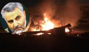 קאסם סולימאני ברקע מקום החיסול