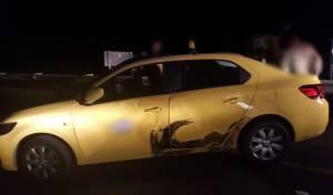 הרכב לאחר שנעצר