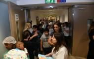 הילדים והתינוקות הועברו לאשפוז מוגן • צפו