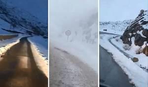הדרכים המושלגות - מרוקו: מאות חרדים תקועים בשלג • תיעוד