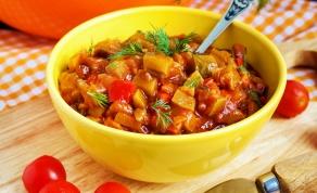 תבשיל ירקות פיקנטי - תבשיל ירקות מזין בתיבול פיקנטי