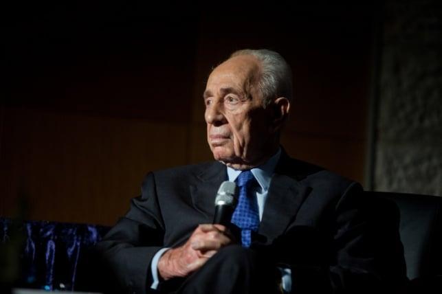 הנשיא לשעבר פרס עבר צינתור ב'שיבא'