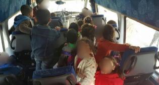 המיניבוס בכפר הסיע 28 ילדים, במקום 16