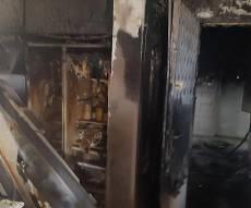 """בית המשפחה לאחר השריפה - השריפה בב""""ש: בן הארבע במצב קשה מאד"""