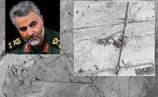 מפקד הכוחות האיראניים, גנרל קאסם סולימאני והבסיס האיראני בצייקל