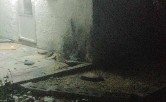 המשפחה נכנסה למרחב מוגן והבית ספג פגיעה ישירה