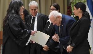 הנשיא ראובן ריבלין והשופטת החרדית חוי טוקר, היום
