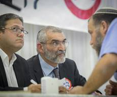 ראשי 'עוצמה יהודית' איתמר בן גביר, בנצי גופשטיין ומיכאל בן ארי