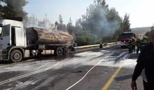 לוחמי האש מנעו פיצוץ של מיכלית דלק