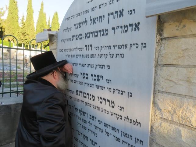הרבי מנדבורנה באניא ביקר במקומות קדושים