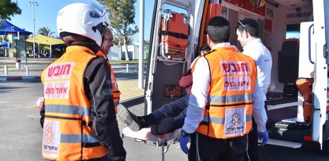 ילדה חרדית נפצעה בינוני מפגיעת משאית