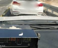 """""""טס"""" במהירות 190 קמ""""ש בכביש 1 ונתפס"""
