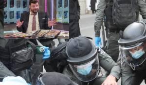 חיים ולדר על רקע תמונת אילוסטרציה של שוטרים