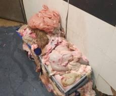 הבשר שנתפס - בכפר הערבי: נתגלה בשר טרף שהוצג ככשר