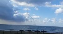 """צפו: """"דמוי טורנדו"""" מול חוף פלמחים"""