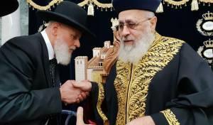 """תיעוד: 'הקבלת פני רבו' לרב הראשי הגר""""י יוסף"""