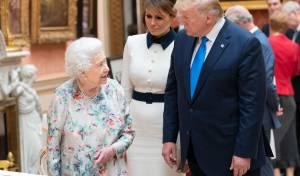 טראמפ בלונדון במפגש עם המלכה