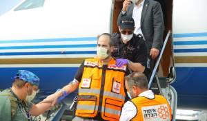 שידור חוזר: נשיא 'איחוד הצלה' נחת בישראל