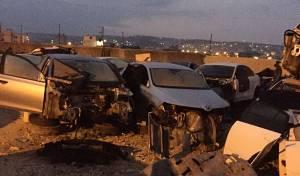 שלדות של רכבים גנובים - המשטרה פשטה על משחטות כלי רכב בג'נין
