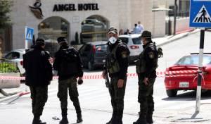 שוטרים פלסטיניים אתמול בבית לחם