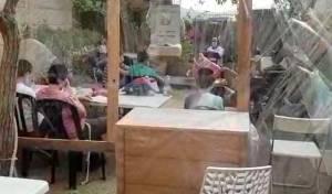 """בשבוע שעבר: ילדי ת""""ת של החינוך העצמאי לומדיםבחצרות, בגנים ובחניונים"""