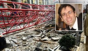 רגע ההתרסקות - טרגדיה בניו יורק: חרדי נהרג בהתרסקות מנוף