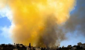 השריפה היום באזור אבו גוש